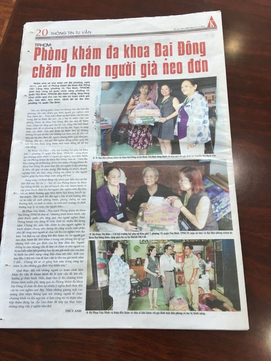 Báo chí nói về Phòng khám Đại Đông