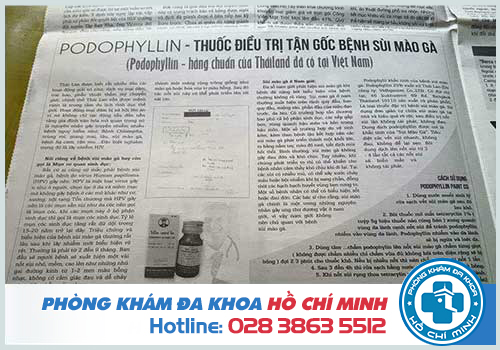 Bán thuốc podophyllin 25 ở Vĩnh Phúc chữa bệnh sùi mào gà chính hãng