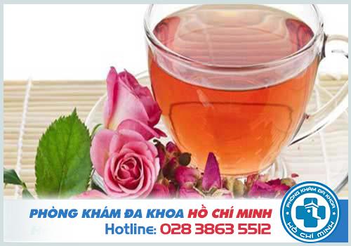 Chữa kinh nguyệt không đều bằng trà hoa hồng