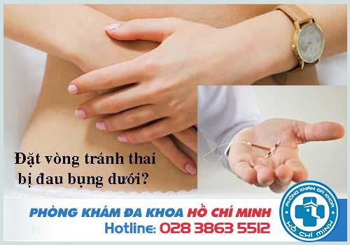 Đặt vòng tránh thai bị đau bụng dưới và đau lưng