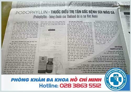 Mua thuốc podophyllin 25 ở Ninh Bình chữa bệnh sùi mào gà chính hãng