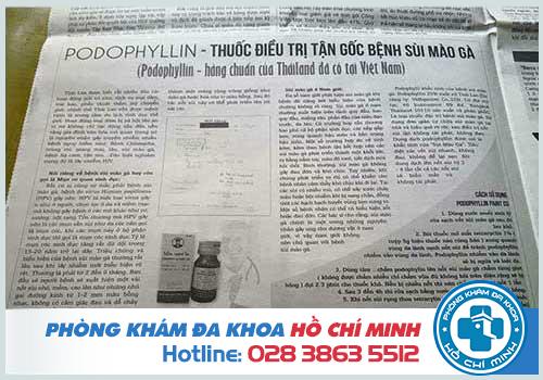 Mua thuốc podophyllin 25 chữa bệnh sùi mào gà ở Vĩnh Long tốt nhất