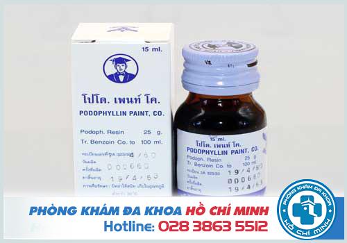 Thuốc podophyllin 25 chữa bệnh sùi mào gà ở đâu và giá bao nhiêu