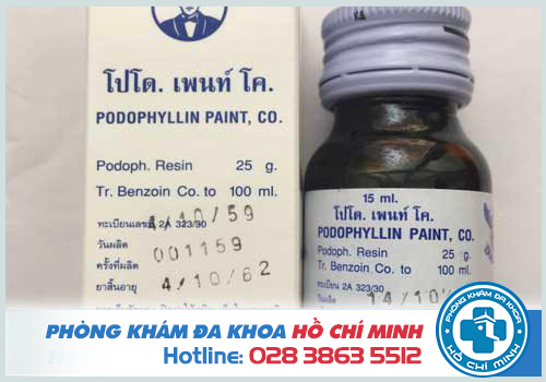 Thuốc podophyllin 25 % chữa trị sùi mào gà ở Vĩnh Long uy tín