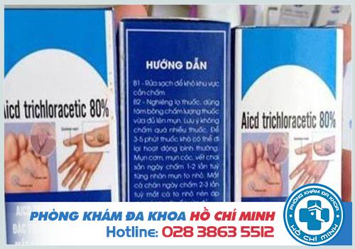 Thuốc Acid Trichloracetic 80 chữa sùi mào gà giá bao nhiêu tiền